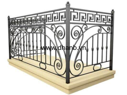 lan can sắt mỹ thuật dha railing